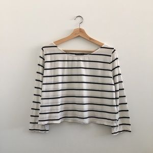 BRANDY MELVILLE Striped Long Sleeve Shirt - O/S